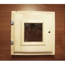 Окно банное с фурнитурой 300х300мм
