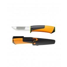 """Нож для тяжелых работ с точилкой """"FISKARS"""""""